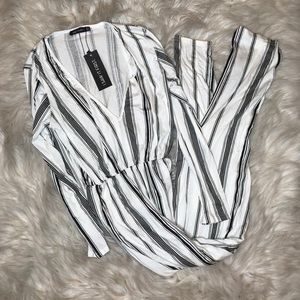 Striped Longsleeve Jumpsuit
